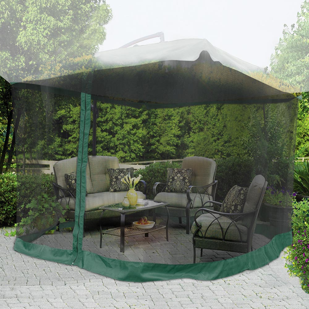 Yescom 9ft Umbrella Mosquito Net Outdoor Patio Mesh Screen Anti Insect Fly  Tent Netting   Walmart.com