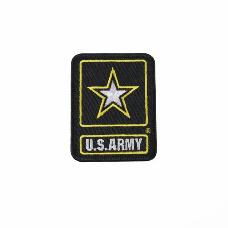 Us Army Unit Insignia (Embroidered US Army Star Emblem Logo Patch Iron or Sew On Military Insignia Vet Gift )