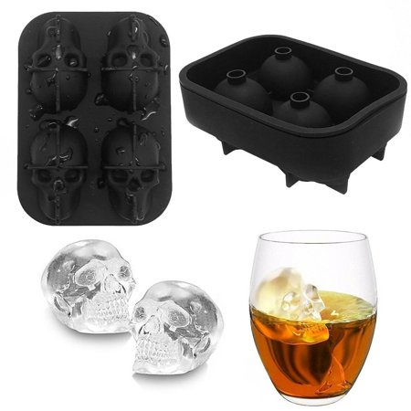 Halloween Ice Cubes Ideas (Skull Shaped Whisky Cocktail Ice Cubes Tray Silicone Mold Candy Ice Cream Mold Pudding Soap Ice Moulds Halloween)