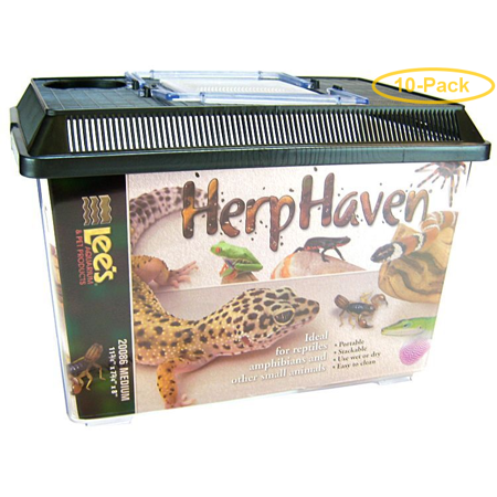 Lees HerpHaven Terrarium - Rectangular Medium - 11.75L x 7.75W x 8H - Pack of 10