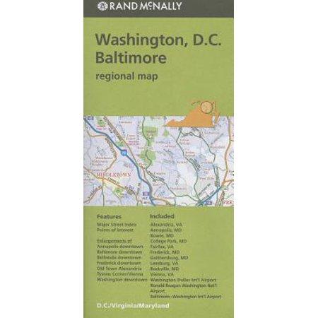 Folded Map Washington DC Baltimore MD (Baltimore Md Map)