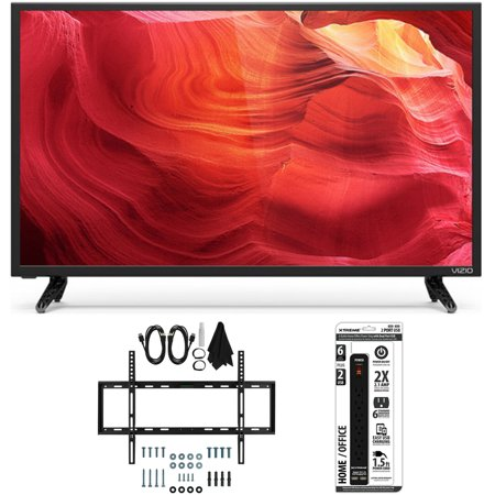 Vizio E50-D1 – 50-Inch 120Hz SmartCast LED Smart 1080p HDTV Slim Wall Mount Bundle includes TV, Slim Flat Wall Mount Ultimate Kit and 6 Outlet Power Strip with Dual USB Ports