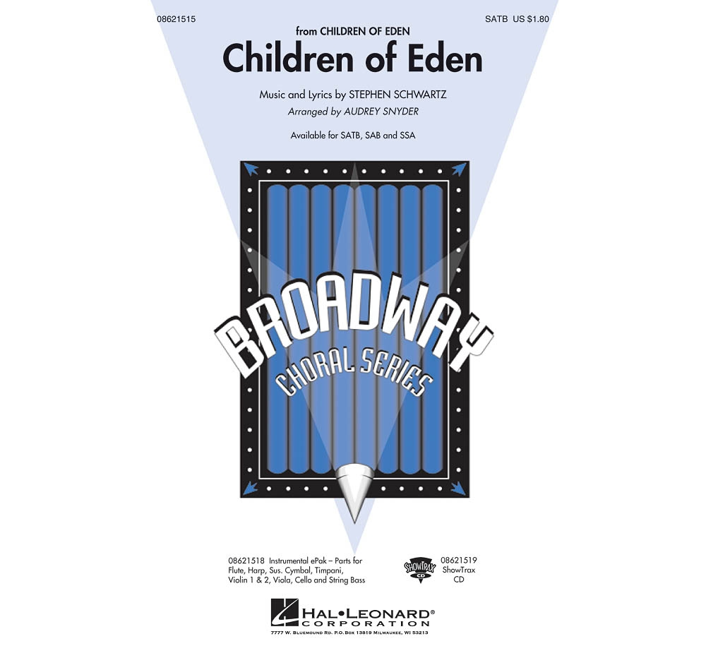 Hal Leonard Children of Eden SATB arranged by Audrey Snyder by Hal Leonard