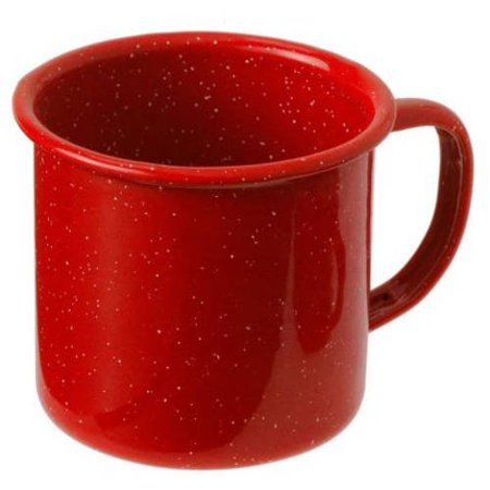 GSI Enamelware Cup, 12 oz, Red