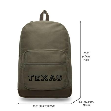 8ce4966dac Army Force Gear - Army Force Gear TEXAS Logo Military Canvas & Leather  Laptop Backpack School Bag - Walmart.com