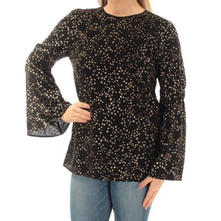 Michael Kors Womens Star-Print Bell-Sleeve Blouse Michael Kors Womens Blouse