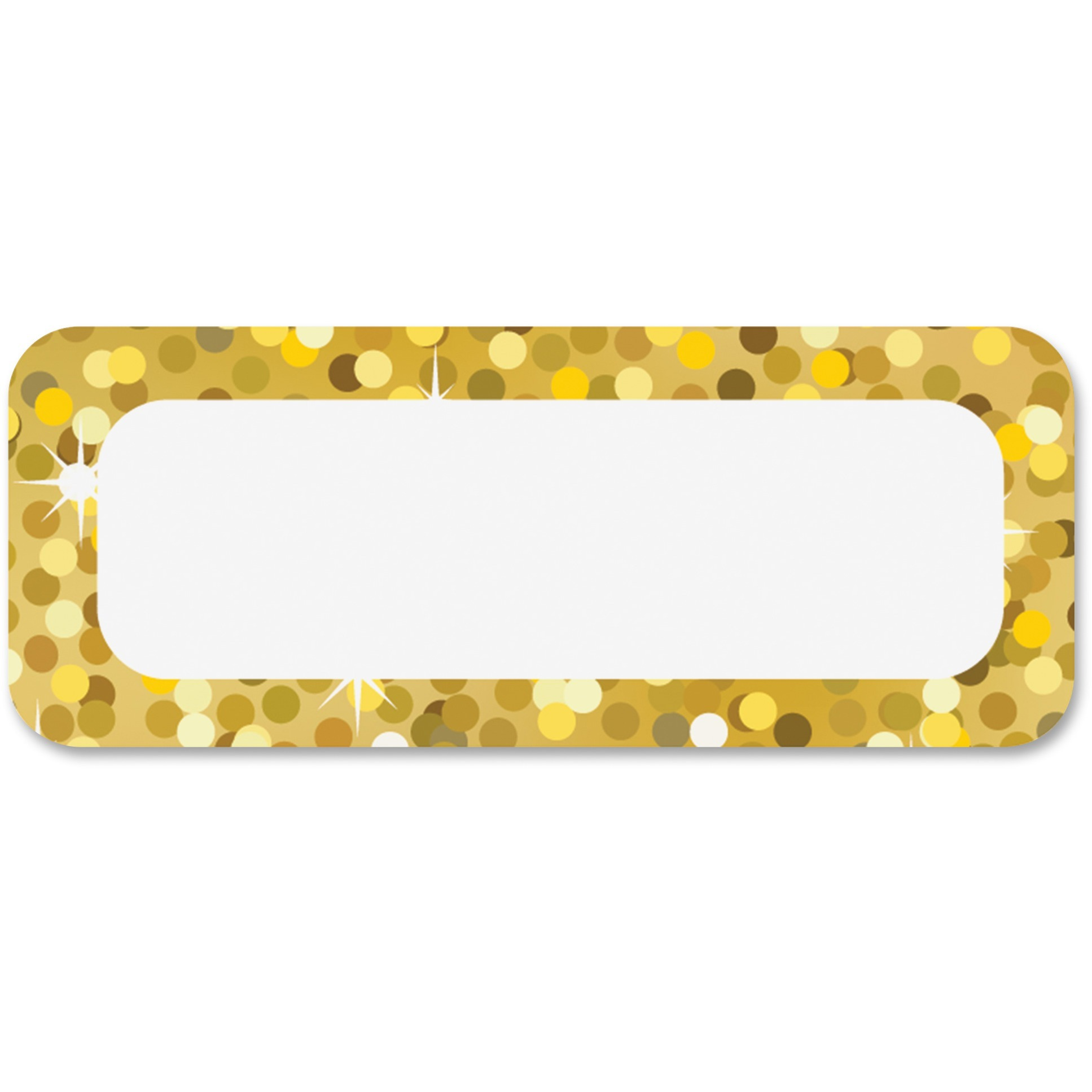 Ashley, ASH10082, Gold Sparkle Magnetic Nameplate, 1 Pack, Gold by Ashley Productions, Inc