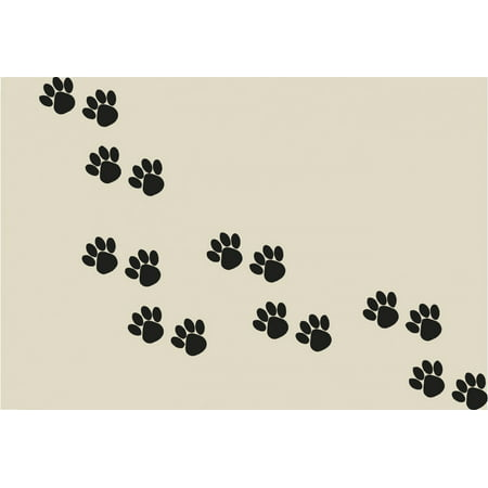 Paw Print Decals (Custom Wall Decal Paw Prints Picture Art Living Room Home Decor Sticker - Vinyl Wall Decal - Size : 8 X 16)