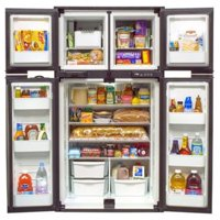 NORCOLD 1210SS Three Compartment 4 Door Side-By-Side Refrigerator