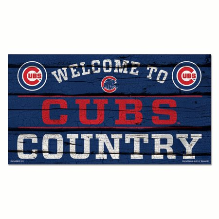 Chicago Cubs Country 13 X 24 Wood Sign