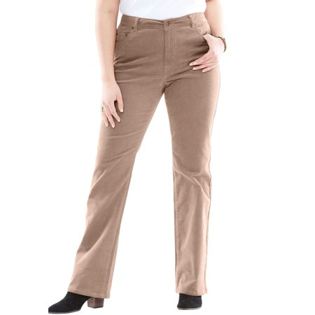 Woman Within Women's Plus Size Petite Stretch Corduroy Bootcut Jean