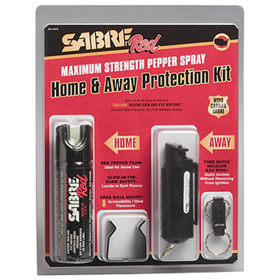 SABRE Red Pepper Spray Home and Away Protection Kit