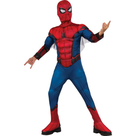 Boy's Deluxe Muscle Chest Spider-Man Halloween Costume
