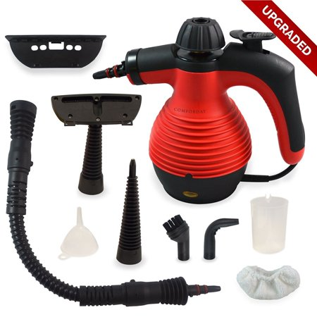 Multi-Purpose Handheld Pressurized Steam Cleaner 1050W Portable Steam Cleaner with 9 Accessories (Pressurized Steam Washer)