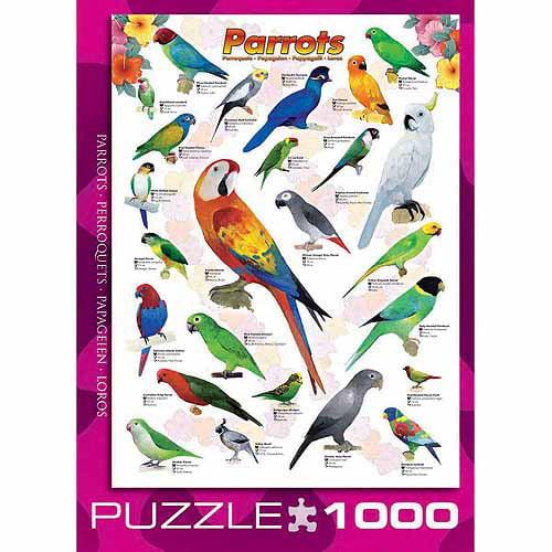 EuroGraphics Parrots 1000-Piece Puzzle