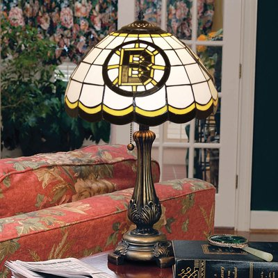 Boston Bruins Stained Glass Table Lamp by