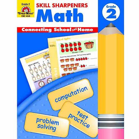 Evan-Moor Math Skill Sharpeners Book, Multiple Grades