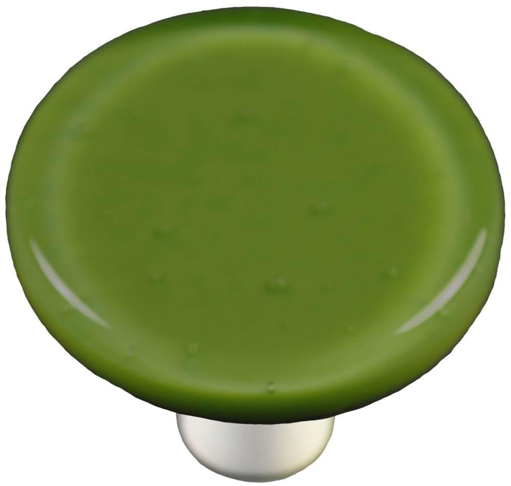 Round Knob in Olive Green (Aluminum)