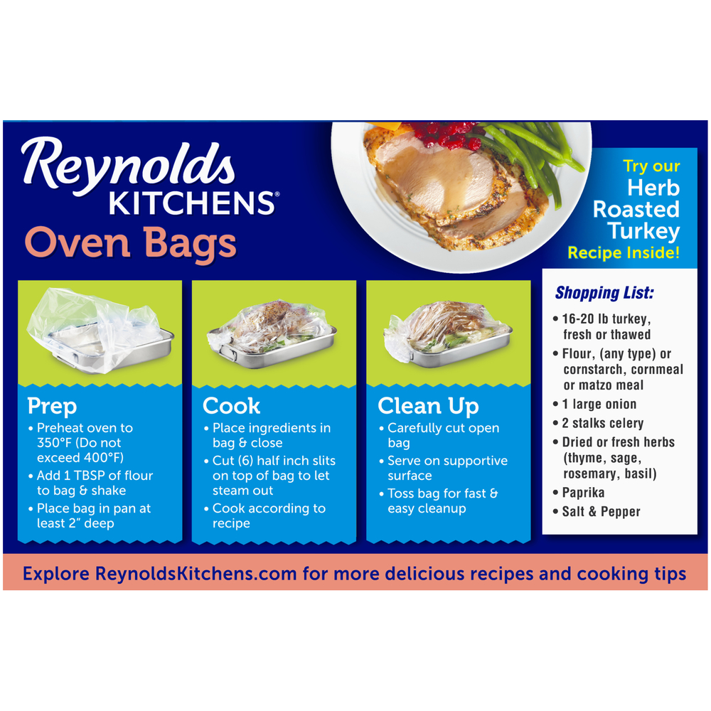 Reynolds Oven Bags Cooking Chart - Best Picture Of Chart ...