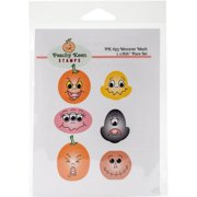 Peachy Keen Stamps Clear Face Assortment 6/pkg-monster Mash