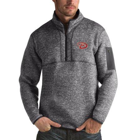 Diamondback Gear (Arizona Diamondbacks Antigua Fortune Half-Zip Sweater - Heathered)