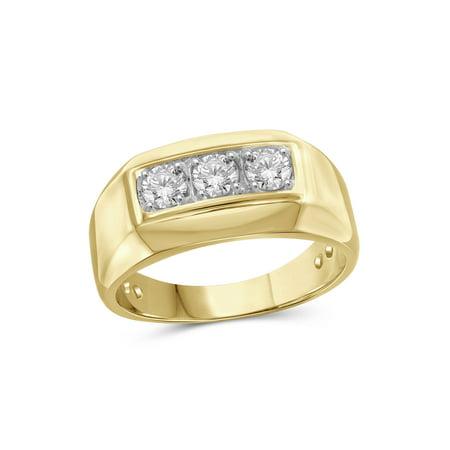 1/2 Carat T.W. White Diamond 10k Yellow Gold Men's Ring