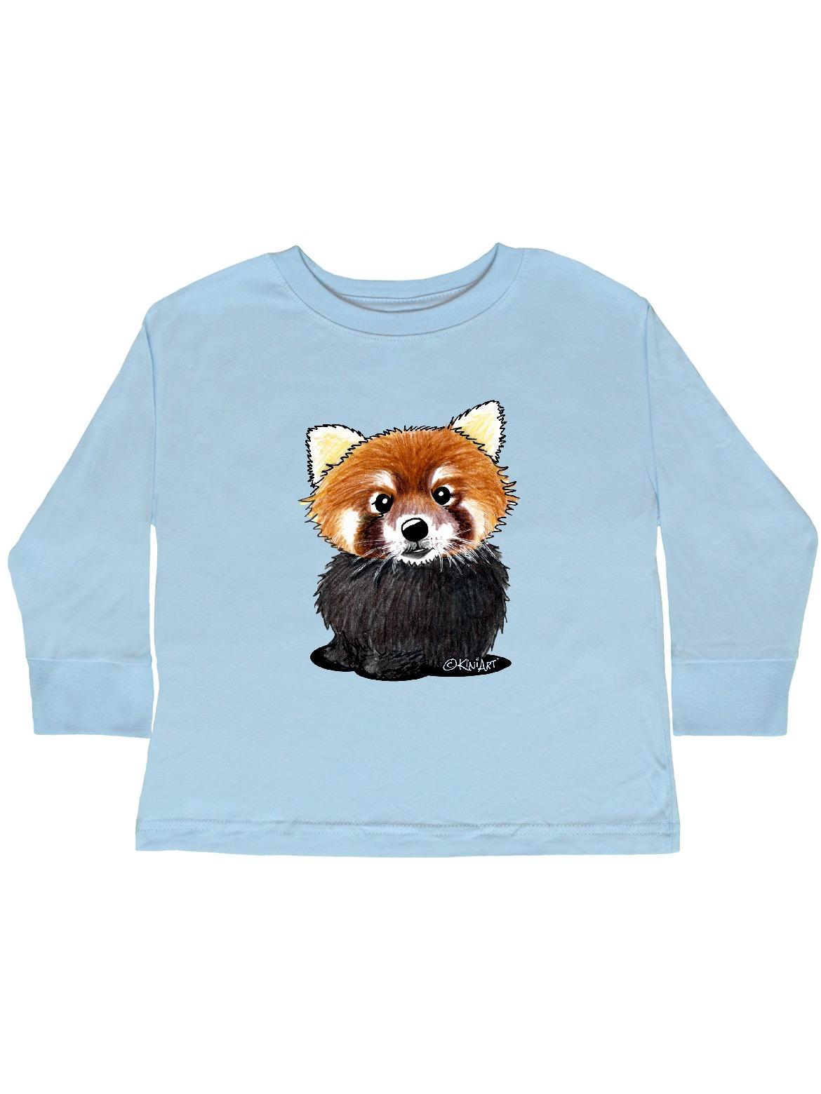 KiniArt Red Panda Toddler Long Sleeve T-Shirt - KiniArt