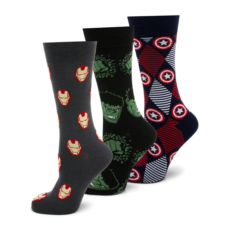 Marvel Comics Avengers 3 Pair Sock Gift Set