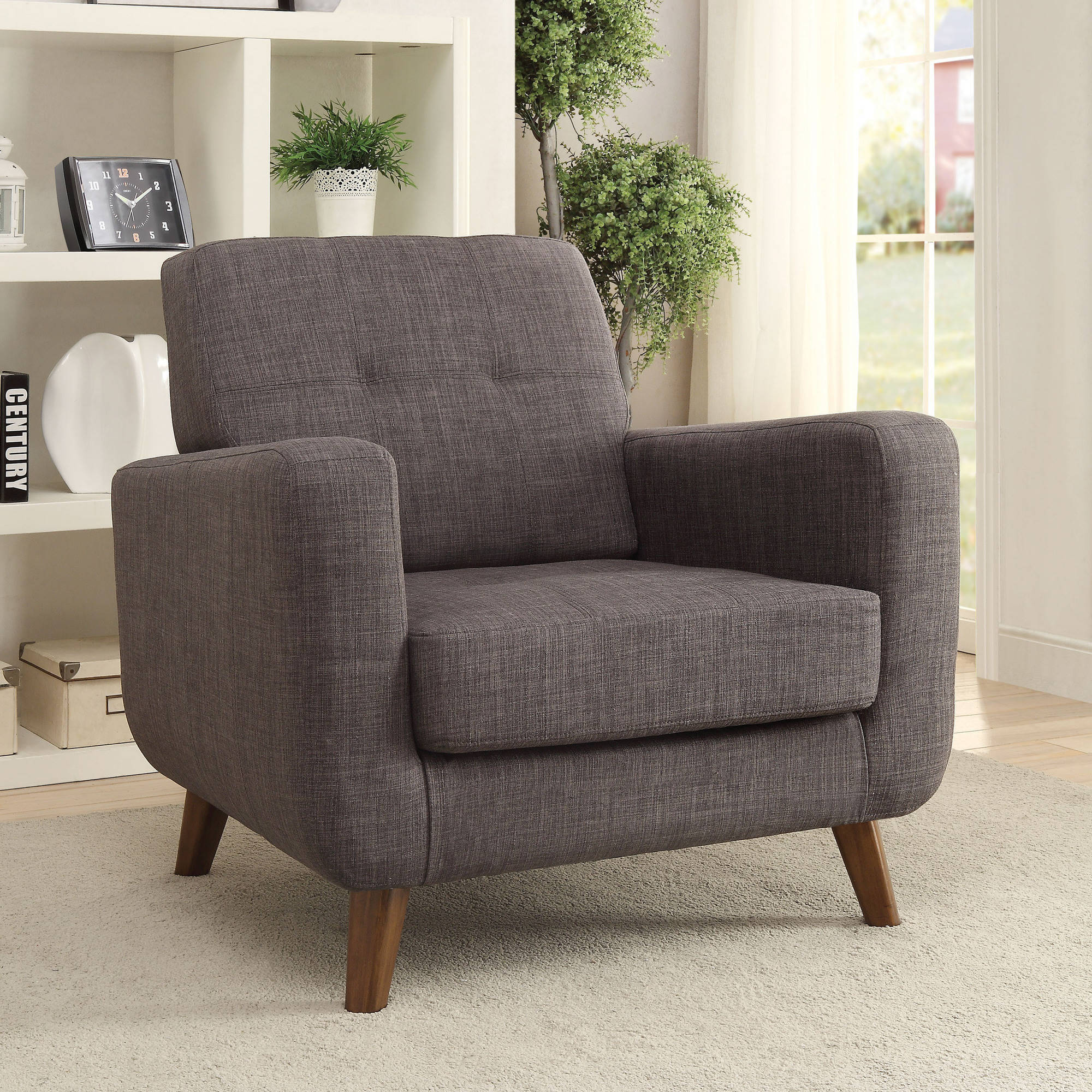 Coaster Mid century Modern Accent Chair Walmart