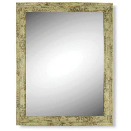 Antique Wood Look Wall Mirror (Pack Of 4)