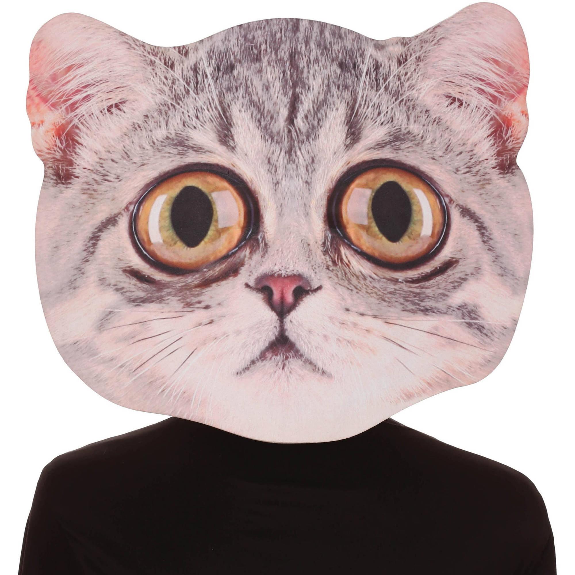 Big Eye Cat Mask Adult Halloween Accessory Walmart