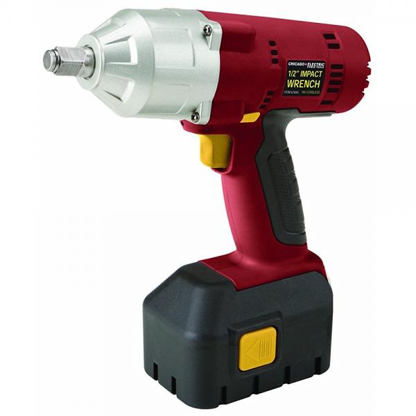 Chicago Electric 1/2 inch 18 Volt Cordless Impact Wrench ...