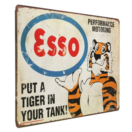 - Tiger Vintage Retro Metal Tin Sign Plaque Shop Bar Club Home Wall Decor 8''x12''