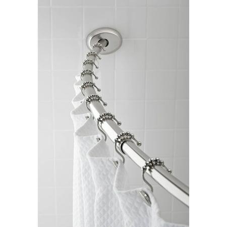 Hotel Style Aluminum Curved Shower Rod Brushed Nickel Walmartcom