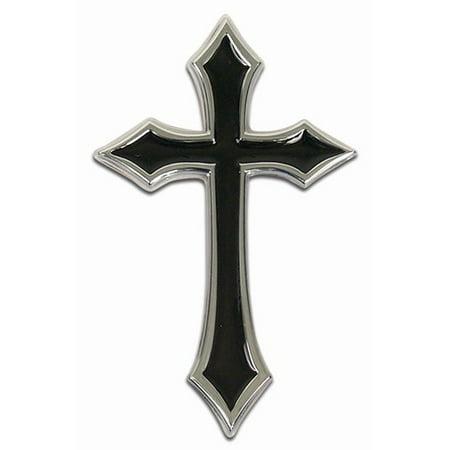 Celtic Cross Emblem (Custom Accessories 98070 Car Emblem, Cross, Chrome/Black,)