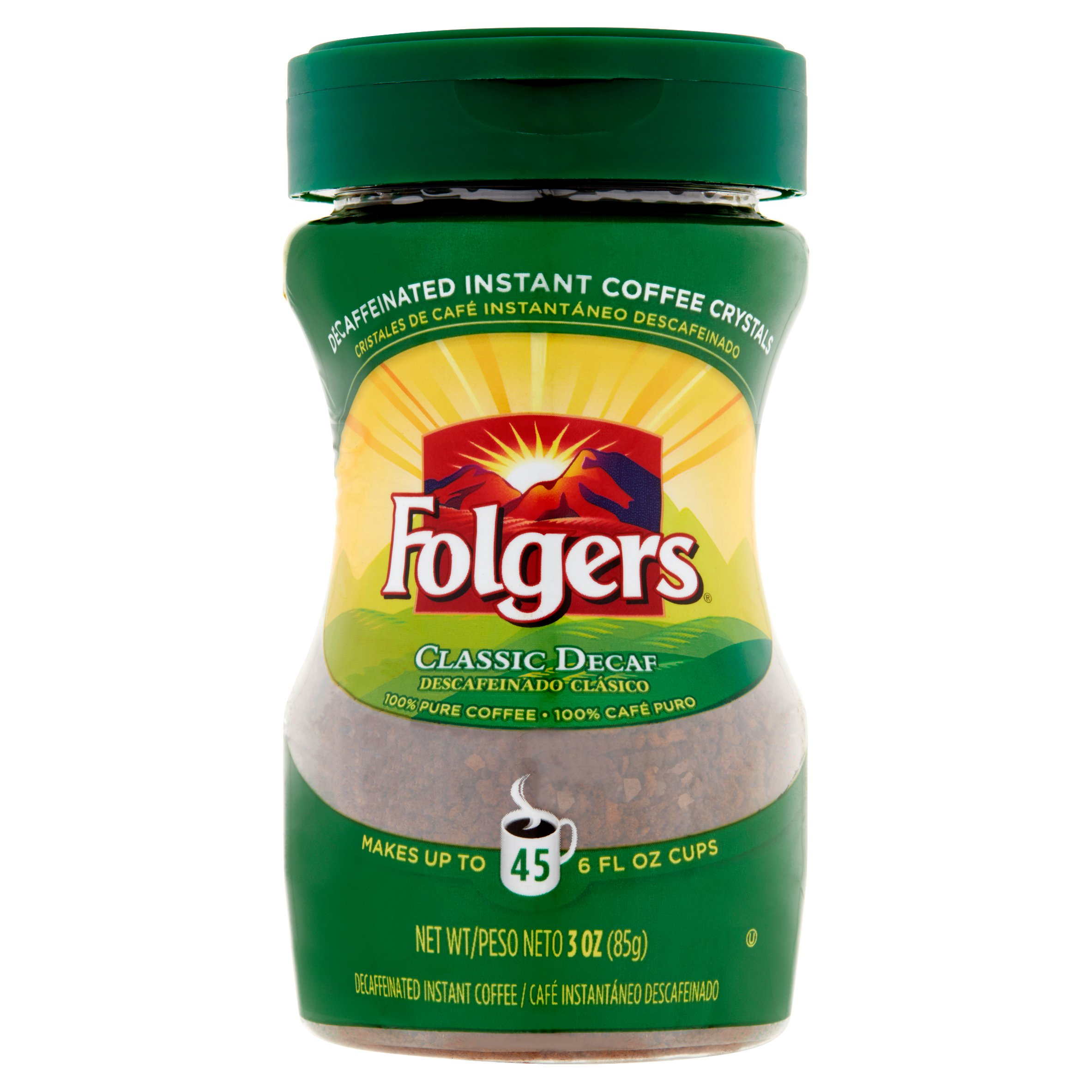 Folgers Decaf Instant Coffee, Special Roast, 3 Oz