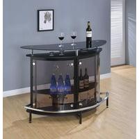 Coaster Contemporary Bar Unit, Black/Chrome