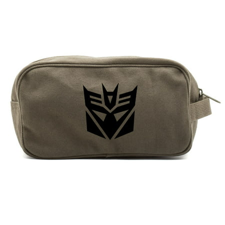 Transformers Robots Decepticon Logo Dual Two Compartment Travel Toiletry Kit