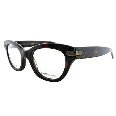 Bottega Veneta BV 234 TVD Havana Plastic Cat-Eye Eyeglasses 49mm