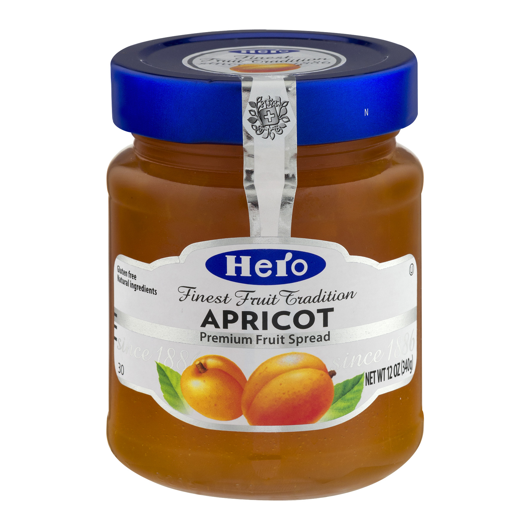 Hero Fruit Spread, Apricot, 12-Ounce (Pack of 8)