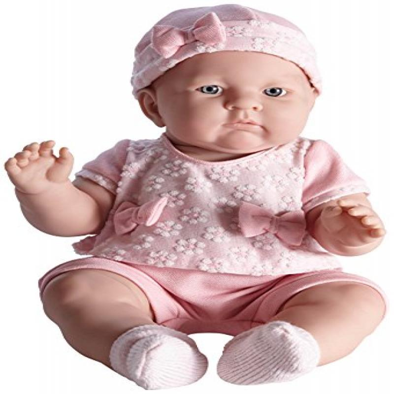 JC Toys Lily In Pretty Realistic Doll Baby Doll, Light Pink, 18