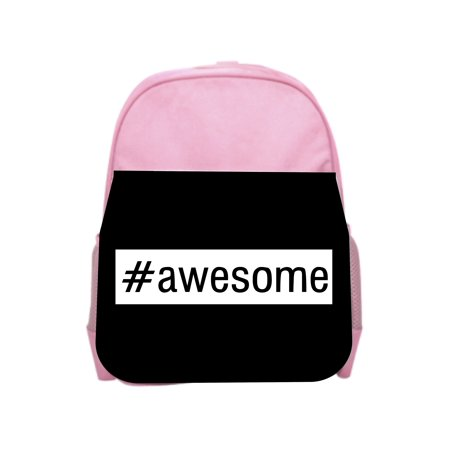 #awesome - Girls Pink Preschool Toddler Children's Backpack & Lunch Box Set (Awesome Backpacks)