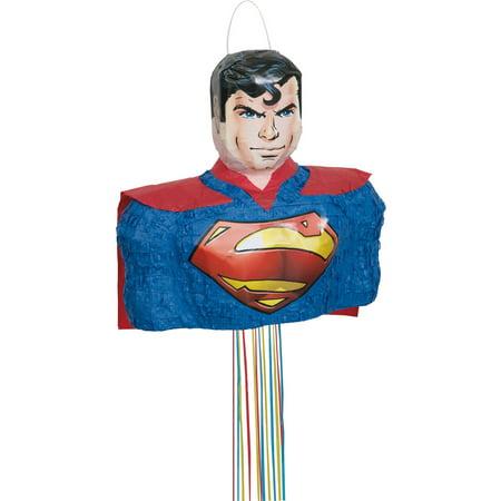 Superman Pinata, Pull String, 16.5 x 14 in, 1ct](World Of Pinatas)