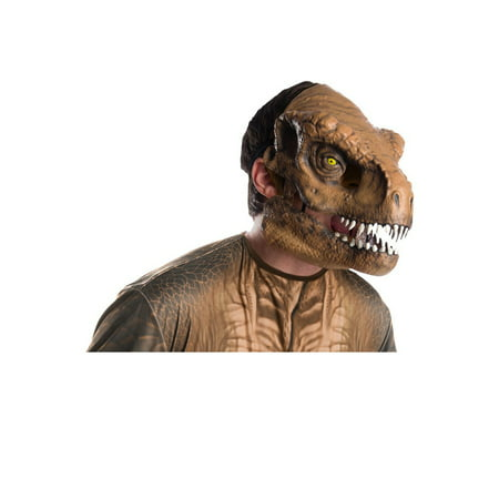 Jurassic World: Fallen Kingdom Tyrannosaurus Rex Movable Jaw Adult Mask Halloween Costume Accessory - Halloween Masks For Men
