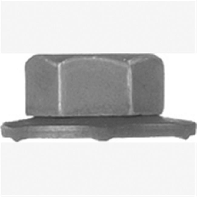 Auto Body Doctor DYN-6348 6-1.00 mm Black Phosphate Hex Flange Nuts Loose Washer for GM11505329 - 10 Piece