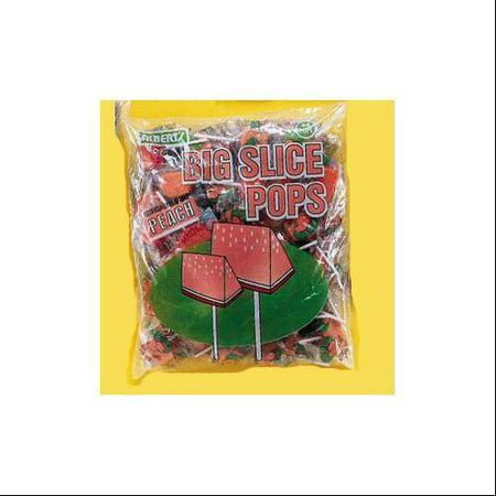 Big Slice Peach Pop, 48 Count - Big Lollipops