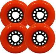 JUMBO LONGBOARD WHEELS 76mm x 45mm 78a RED Skateboard Cruisers