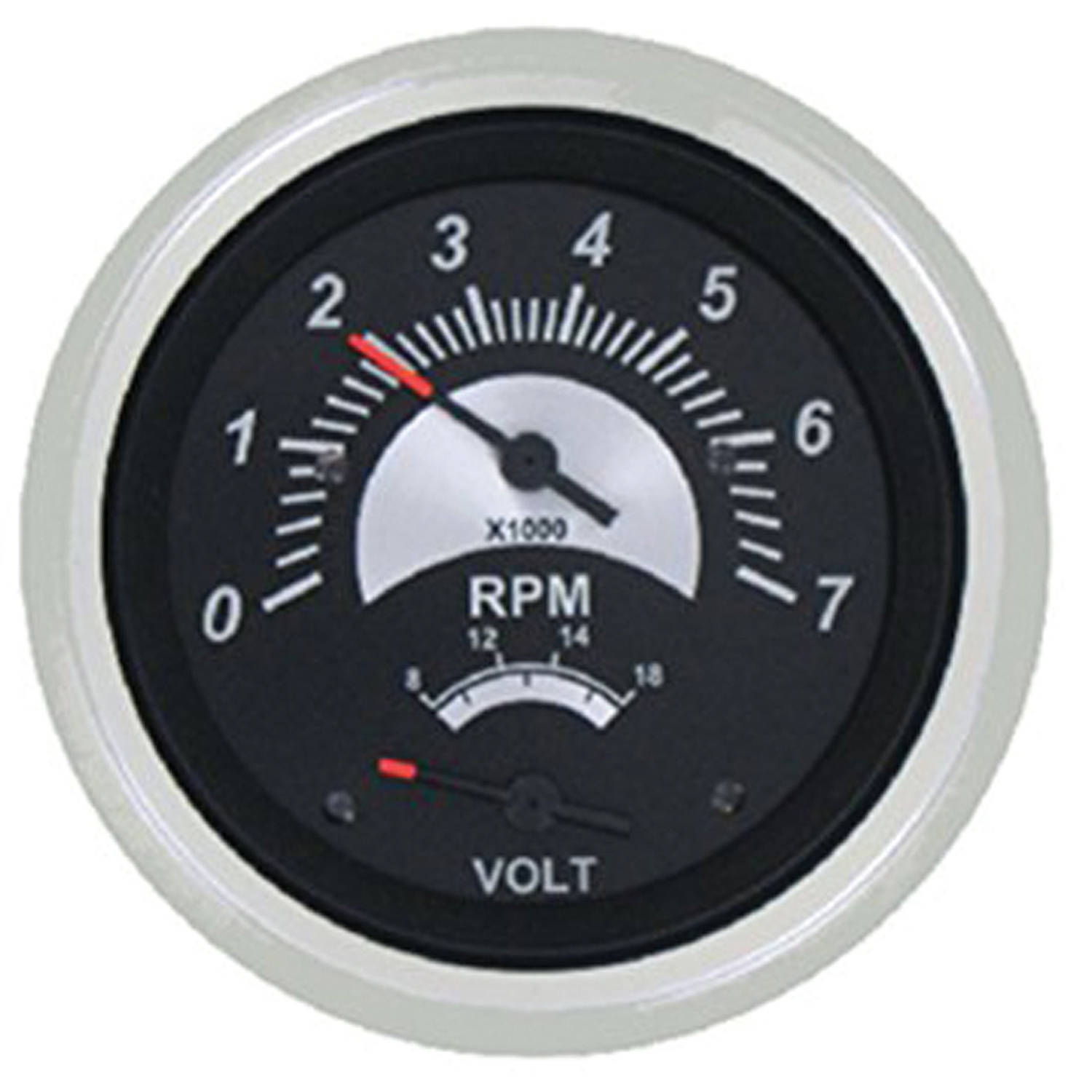 SeaStar Solutions Black Sterling 50-MPH Speedometer Head