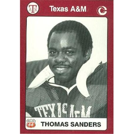 Thomas Sanders Football Card (Texas A&M) 1991 Collegiate Collection No.25