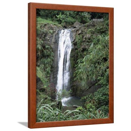 Concord Waterfall, Grenada, Windward Islands, West Indies, Caribbean, Central America Framed Print Wall Art By Robert (Windward Mall)